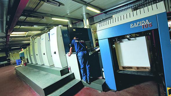 从70克至650克——利必达105印刷机自由转换